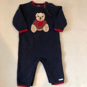 Janie And Jack  bear sweater romper